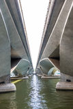 View under Esplanade bridge, Singapore Stock Photography