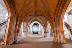 View under the High-Choir porch in the Church of the Sao Francisco Convent. Royalty Free Stock Images