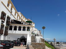View. From under hotel in tangier city Royalty Free Stock Image