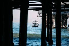 View from under the jetty