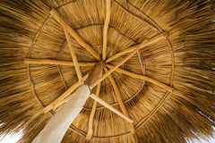 View from under a palapa Royalty Free Stock Photos