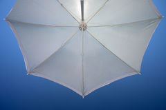 View from under umbrella. View from under a beach umbrella Stock Image