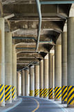 View under the viaduct of a major highway Stock Image