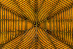 A view of under a wooden roof Stock Photo