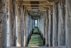 View Underneath a Pier Royalty Free Stock Photography