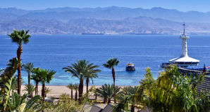 View on underwater observatory, Eilat, Israel Royalty Free Stock Image