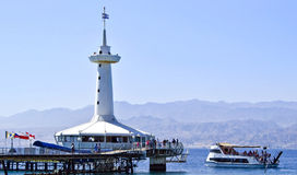 View on underwater observatory, Eilat, Israel Stock Photo