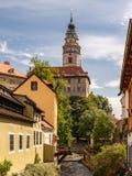 View of the Unesco World Heritage City Český Krumlov stock photos