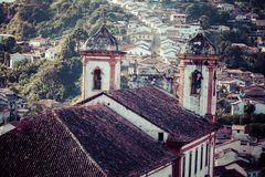 View of the unesco world heritage city of Ouro Preto in Minas Gerais Brazil Stock Images