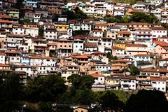 View of the unesco world heritage city of Ouro Preto in Minas Gerais Brazil.  stock image