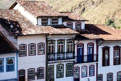 View of the unesco world heritage city of Ouro Preto in Minas Gerais Brazil Royalty Free Stock Photo