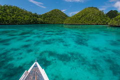 View of the uninhabited islands from a boat Stock Image
