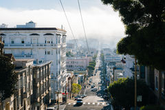 View of Union Street, in San Francisco  Royalty Free Stock Photos