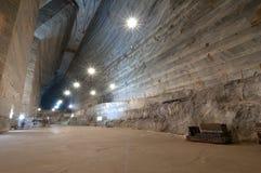 Unirea Salt Mine located in Slanic, Prahova County, Romania. View of the Unirea Salt Mine, an old salt mine located in Slanic, Prahova County, Romania Stock Photo