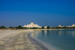 View of the United Arab Emirates Presidential Palace from the Em stock images