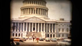 View of the United States Capitol. Building in the mid 1960's stock video footage