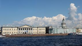 View of Universitetskaya embankment Royalty Free Stock Photo