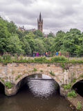 View of the University of Glasgow Stock Images