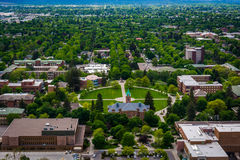 View of University of Montana from Mount Sentinel, in Missoula  Stock Image