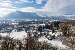 View of the Untersberg in the winter, Salzburg, Austria. Royalty Free Stock Photography