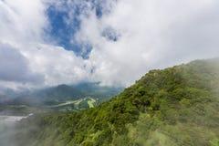 View from Unzen ropeway in Kumamoto, Kyushu. Stock Images