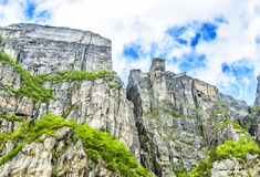 Free View Up A Gigantic Rock In Lysefjord, Famous As Preikestolen. Royalty Free Stock Photos - 61270418