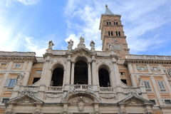 View up at the Basilica di Santa Maria Maggiore in Rome, Italy Royalty Free Stock Image