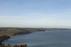 View up the Coast from Start Point, Devon. Stock Image