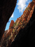 View up the deep Standley Chasm Stock Photos
