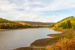 View up the derwent valley in autumn Royalty Free Stock Photos