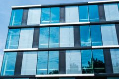 View up on modern office building Royalty Free Stock Photography