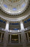 View up the pilars at the boise capital Royalty Free Stock Photos
