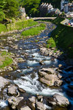 A view up the river from Lynmouth Devon. A view up the River Lyn from the bridge in Lynmouth Devon Royalty Free Stock Images
