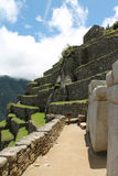 View Up the Terraces of Machu Picchu Royalty Free Stock Photography