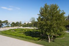 View in Upland park, Baku city. Parks and architecture of Baku city Royalty Free Stock Images