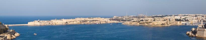 View from the Upper Baccarra Garden. Valletta, Malta Grand harbor Stock Photo