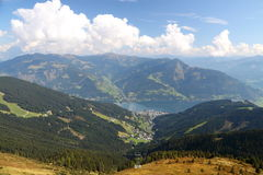 View from the upper cableway station royalty free stock images