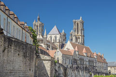 View of the upper city of Laon Stock Images