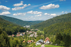 View from the upper Gaistal on Bad Herrenalb Royalty Free Stock Photo