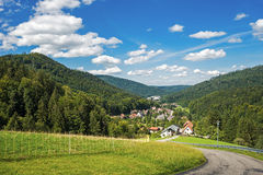 View from the upper Gaistal on Bad Herrenalb Stock Photos