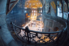 View from upper gallery of Hagia Sophia Royalty Free Stock Photos