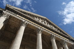 A view of the upper side of the Pantheon in Paris. French-A view of the upper side of the Pantheon in Paris royalty free stock photography