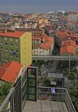 View from the upper station of city funicular in Santander Stock Photo