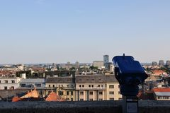 View from Upper town, Zagreb, Croatia stock images