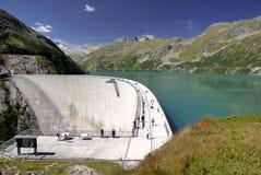Water Reservoir of Kolnbrein Dam. View on Upper Water Reservoir of Kolnbrein Dam Royalty Free Stock Photo