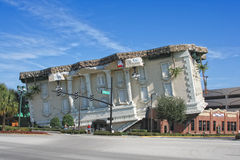 View on upside-down Wonderworks building. ORLANDO, USA - NOVEMBER 12: Upside-down Wonderworks building is a fun-loving museum on International Drive on November Stock Photography