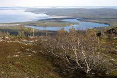 View of the Ural mountains in August Royalty Free Stock Photography