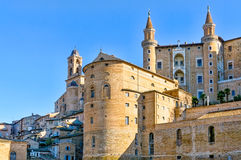 A View of Urbino. The renaissance town of Urbino in Italy Stock Image