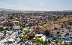 View of Urgup town with cave houses. Cappadocia. Turkey Royalty Free Stock Photography