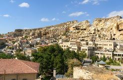 View of Urgup town with cave houses. Cappadocia. Turkey Royalty Free Stock Images